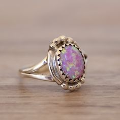 Pink Opal Navajo Ring | Tribal | Bohemian Gypsy Jewelry | Boho Festival Jewellery | Hippie Style Fashion | Indie and Harper