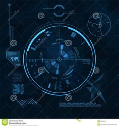 HUD And GUI Set. Futuristic User Interface. Royalty Free Stock Photography - Image: 38465247