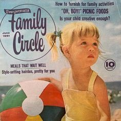 """This listing is for the COVER ONLY of the June 1961 issue of Family Circle Magazine.   A super cute photo of a little girl with her beach ball in the sand.   Fun, frameable art for the beach fan, lover of vintage swimsuits or the owner of a cottage or beach house.  Frame and hang in a child's room, bathroom, pool house, Lake, cottage or beach house.  The page measures about 8.5""""x 11"""".  Please review photos.   Image #3 shows some creases in the upper right-hand corner of the cover.  Image #4… Close Up Photos, Cute Photos, Little Girl Rooms, Little Girls, Deer Photos, Family Circle, Vintage Swimsuits, Lake Cottage, Beach Ball"""
