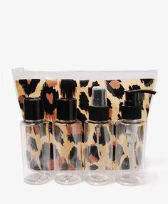 Leopard Travel Bottle Set