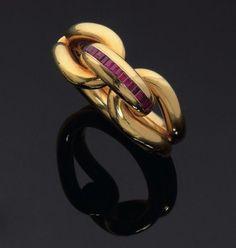 Ruby and gold bracelet, Rene Boivin, c.1938-1940