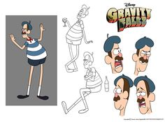Character Design Assignment One: Gravity Falls by chillyfranco.deviantart.com on @deviantART