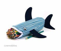 Nautical Desk Accessory - Pencil Case - Adult Coloring Pouch - Shark Scuba Gift - Purse Organizer - Planner Zipper Pouch - Personalized Bag