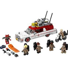 LEGO Ghostbusters 2016 Ecto-1 and Ecto-2 Building Set