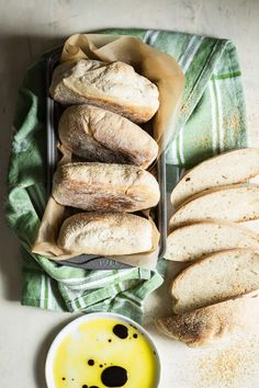 Homemade and fresh baked ciabatta bread rolls, baked in your very own kitchen!