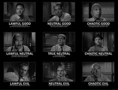 12 Angry Men - A D+D Alignment Chart. Interesting Gold Movie, Essay Contests, Movie Collection, Great Movies, Men Quotes, Movie Quotes, Movies And Tv Shows, 60s Films, Good And Evil