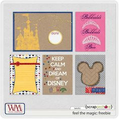 Freebie Disney Project Life Printable Cards by WM[squared] Designs
