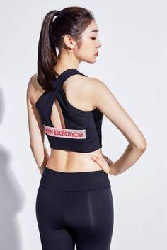 Yoga Pants Girls, Girls In Leggings, Sport Fashion, Fashion Pants, Fashion Outfits, Kim Yuna, Cute Asian Girls, Sport Girl, Model Photos