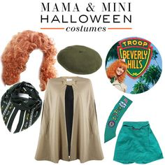 Troop Beverly Hills' Phyllis Nefler and matching girl scout costumes.