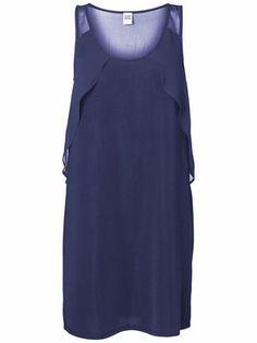 WP - LISA S/L SHORT DRESS, Peacoat, main