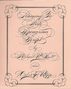 1000 Images About Spencerian Script On Pinterest