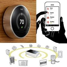 Controls the light and heating in your house at the touch of a button (well touch of a screen now a days!)