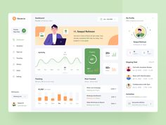 Task Management - Dashboard by Saepul Rohman for Toglas Studio on Dribbble Web Dashboard, Dashboard Design, Ui Web, Responsive Web, Page Design, Web Design, Design Layouts, Flat Design, Application Design