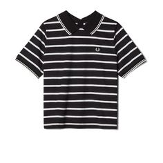 Fred Perry Flat Knit Collar T-shirt<p>Black