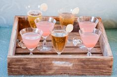 charming #rustic #tray presentation for these delicious #drinks!
