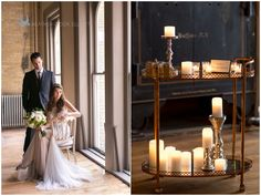 Neutral and gold wedding