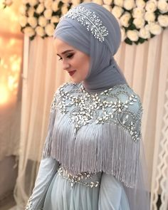 Hijab is elegant Muslim outerwear that will add breathtaking charm on your modern wearing. Hijab can Muslim Wedding Gown, Muslim Wedding Dresses, Wedding Hijab, Muslim Dress, Muslim Brides, Muslim Girls, Muslim Couples, Chic Wedding, Perfect Wedding