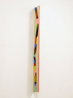 Painting in the expanded field - objects as paintings. 'Miniature Totem', Acrylic on beech
