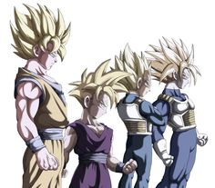 It's a super duper awesome father-son team! Goku/Gohan....Vegeta/Trunks