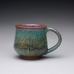 pottery mug handmade teacup ceramic cup with by rmoralespottery, $25.00