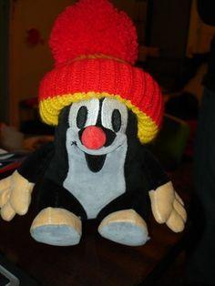 Kretek Mole Sitting in Red Hat / Maulwurf / Plush Stuffed Toy / Very Cute and Lovely / Kisvakond by Morevska Ustredna, http://www.amazon.com/dp/B001SN2BU0/ref=cm_sw_r_pi_dp_XoDIpb19JGZ8K