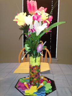 Easter centerpiece! I love it being really tall!