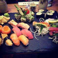 thatchillaxdude.com #thatchillaxdude  Yes sushi in Latvia is a thing!   #travel #instatravel #worldtravel #walkabout #wanderlust #travelfood  #foodporn #foodaddict #foodie #instafood #beer #tervete #sake #sushi #cheatday #cheatdayeveryday