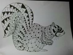 #zentangle #doodle #pen #squirrel