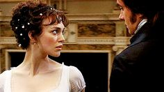 """""""I loved doing the dancing scenes, that what we did in rehearsals, we had three weeks of rehearsals which is completely unusual. We had live music so it was like we were in an actual ball. It's incredibly sensual. That sexual chemistry between Elizabeth and Darcy is there, you almost don't have to play it because it´s there in the dance."""" (Keira Knightley)"""