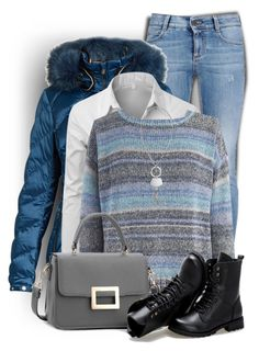 """""""Pretty Striped Sweater"""" by daiscat ❤ liked on Polyvore featuring STELLA McCARTNEY, Toni Sailer, Doublju, 424 Fifth, Sunsteps and Chico's"""