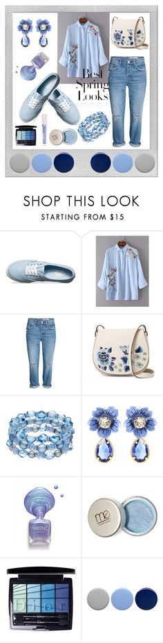 """""""Flower Blouse"""" by fab-fashion-world ❤ liked on Polyvore featuring Polaroid, Vans, H&M, French Connection, Dolce&Gabbana, Christian Dior, Burberry, Lime Crime, goodvibesonly and Spring2017"""