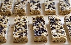 Chewy Chocolate Chip Granola Bars from Once Upon a Chef