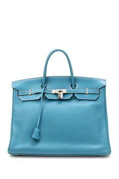. . . Vintage Hermes Birkin 40 Stamp Square H Silver Hardware Handbag . . . nice.