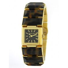 Everyday's watch--> Michael Kors Womens Watch Frenchy Yellow Gold Tortoise Bracelet /Box MK4250 #MichaelKors #Dress