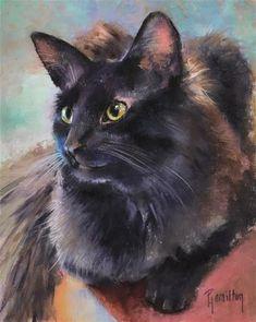 "Daily Paintworks - ""Winston"" - Original Fine Art for Sale - © Pamela Hamilton"
