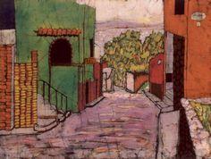 Natalie Guess - Batik Painting of San Miguel