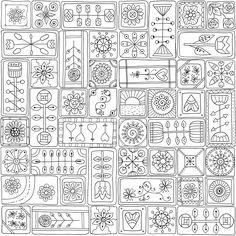 patchwork de coloriages