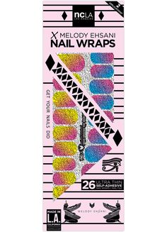 Been Around the World - Tokyo, LA, Paris, London... fun accent nail wraps for the well traveled