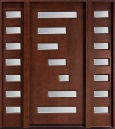 brown-wooden-door-with-glass-and-double-sidelite-with-metal-entry-doors-with-glass-also-doors-interior-glass-758x850.jpg (758×850)