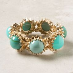 Golden and blue ring