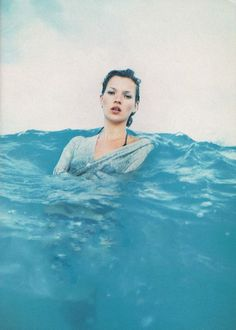 "LIMEROOM nautical |  ""Go with the Flow"" Kate Moss by Enrique Badulescu for Harper's Bazaar US April 1994"