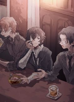 This three has breaking me apart since day 1 Anime Love, Anime Guys, Manga Anime, Anime Art, Dazai Bungou Stray Dogs, Stray Dogs Anime, Dog Wallpaper, Bungou Stray Dogs Wallpaper, Dazai Osamu