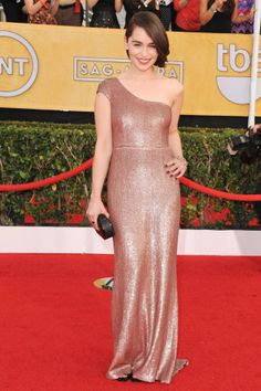 Click throuh to see our Top 10 Best Dressed at the SAG Awards: Emilia Clarke