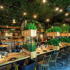 We really like the @SegevKitchenMarket by studio @Yarontal it's very chatty and relaxed! Thank you for the inspirational go green theme of the day, nice work! #gogreen #thingswelove #restaurantinterior #segevkitchengarden #spikstudios