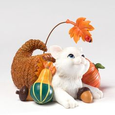 Charming Purrsonalities Plenty Thankful For You Kitten Figurine, 3.125-Inch+