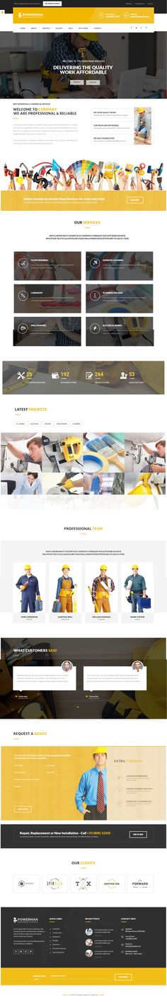 POWERMAN is an Elegant, Clean & Modern #Drupal #Template. It suits any kind…