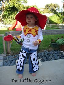 Homemade jessie costume diy jessie from toy story costumes no the little giggler cowgirl jessie halloween costume diy solutioingenieria Images