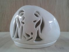 Pottery Bowls, Ceramic Pottery, Pottery Classes, Votive Holder, Clay Design, Christmas Decorations, Christmas Ornaments, Christmas Items, Christian Art