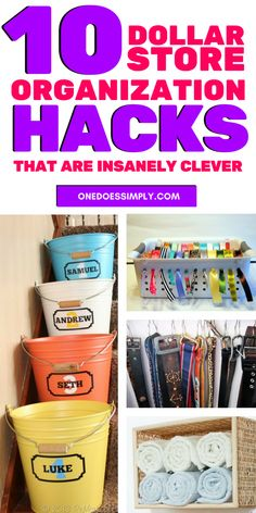 2a3ee5173d Give these awesome DIY crafts ideas a try and make your home IMPRESSIVELY  organized cheaply using dollar store items. What to buy at the ...