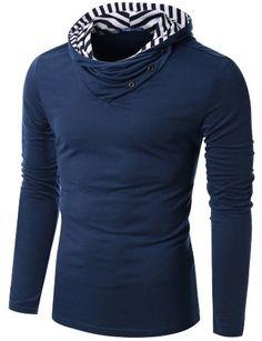 Doublju Mens Stripes Point Hoodie Shirts NAVY (US-S) Doublju http://www.amazon.com/dp/B005GINQIY/ref=cm_sw_r_pi_dp_6UQoub0XMGPAY